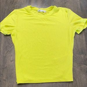 Zara tshirt croped